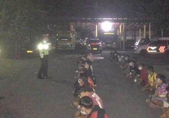 Razia Aksi Balap Liar di Kota Blitar, Polisi Berhasil Amankan 52 Orang
