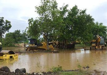Duh Proyek Sirkuit MotoGP Indonesia Terendam Banjir, Begini Kondisinya
