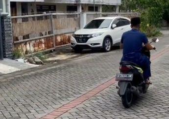 Pria Ini Berangkat Jumatan Pakai  Motor BeAT, Pulangnya Bikin Melongo