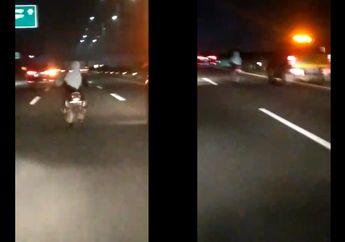 Heboh Emak-emak Naik Motor Masuk Tol Gak Pakai Helm, Ternyata Begini Kondisinya