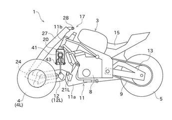 Wow, Gambar Paten Motor Konsep Roda Tiga Dari Kawasaki Bocor!