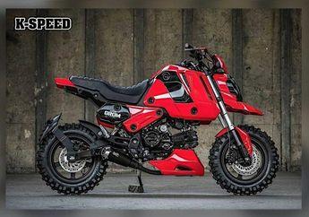 Modifikasi Motor Honda Grom, Kecil Sangar Siap Diajak Garuk Tanah