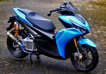 Modifikasi All New Yamaha Aerox 155, Mesin Bore Up Buat Luar Kota