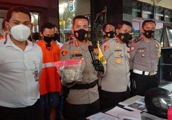 Dua Pemuda Nekat Tabrak dan Lempar Batako ke Mobil Polisi, Berawal dari Balap Liar