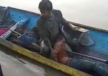 Salut, Polisi Rela Nyemplung ke Kali Tangkap Pelaku Curanmor yang Kabur