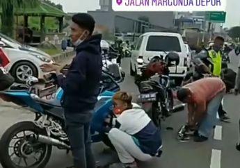 Polresta Depok Kembali Gelar Razia Knalpot Bising, Copot di Tempat