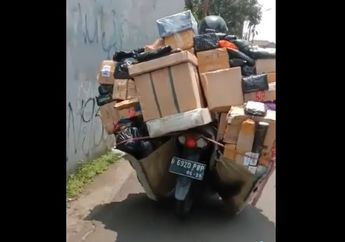 Kurir Bawa Paket Kelewat Banyak, Netizen: Itu Satu Gudang Diangkut Semua