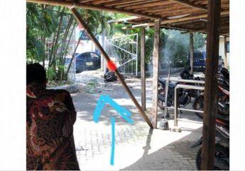 Pelaku Bom Gereja Katedral Makassar Diduga Naik Motor yang Terbakar