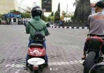 Sok Jagoan, Pemotor Berkaos Polisi Ini Endingnya Tertunduk Lesu
