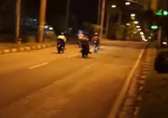 Video Polisi Bubarkan Aksi Balap Liar, Ada 15 Motor Berhasil Disita