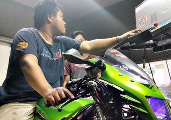 Modifikasi Kawasaki Ninja 150 RR, Tenaga Naik 5 Dk Komponen Standaran