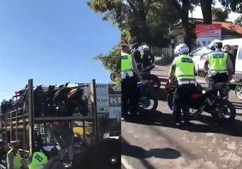 Jangan Coba-coba Ngebut di Minggu Pagi Ada Razia Polisi, Motor Dikandangi