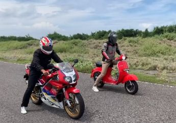 Video Drag Race M. Fadli Naik Vespa Primavera Vs Honda NSR 150 SP