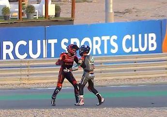 Video Baku Hantam di Moto3 Doha 2021, Pembalap Tim Indonesia Vs Tim Malaysia Kena Denda dan Penalti