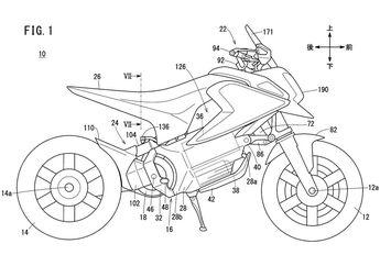 Bocor Gambar Paten Calon Motor Listrik Honda, Pakai Basis Honda Grom!