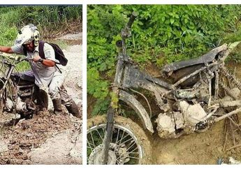 Guru Honorer Dapat Hadiah Motor Trail, Sudah 9 Kali Ganti Motor Demi Mengajar