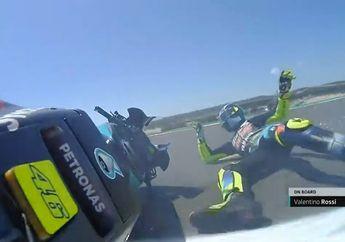 Valentino Rossi Jatuh di MotoGP Portugal 2021, Sempat Tampil Kencang