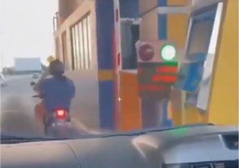 Heboh Video Pemotor Honda BeAT Masuk Tol, Ini Kata Jasa Marga dan Polisi