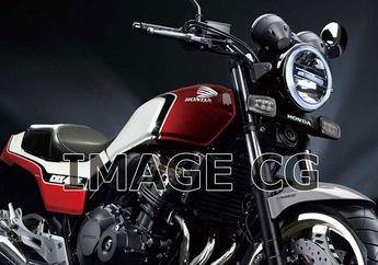 Muncul Gambar Render Motor Sport Retro Honda 400cc 4 Silinder, Bakal Lahir Kembali