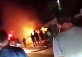 Gara-gara Bocah Main Petasan, Pom Bensin Mini Ini Ludes Dilalap Api
