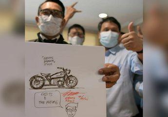 Wow, Ridwan Kamil Bikin Desain Motor Listrik Bergaya Bobber Klasik Bareng Gesits