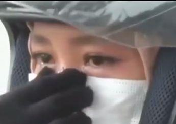 Berlinang Air Mata, Pemudik Wanita Menangis Saat Disuruh Putar Balik Polisi