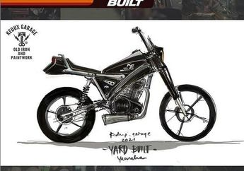 Konsep Modifikasi Yamaha XSR 155 'Black Dog' ala Kedux Garage