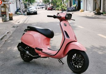 Modifikasi Vespa Sprint, Warna Bodi Feminin, Aksesoris Maskulin