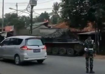 Geger Tank TNI Dikerahkan untuk Penyekatan Mudik di Perbatasan Bekasi-Bogor, Ini Faktanya