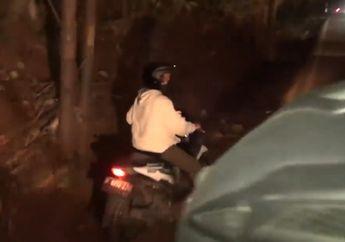 Mojok Gelap-gelapan, Pemotor Honda BeAT Malah Dibantu Polisi