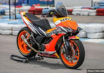 Modifikasi Honda Supra GTR 150, Kaki-kaki Gambot Mirip Motor MotoGP