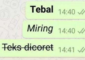 Trik Simpel Ubah Huruf di WhatsApp jadi Tebal, Miring atau Dicoret, Jadi Makin Gaya Bro