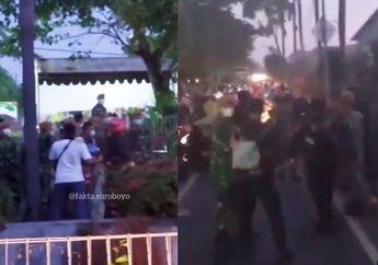 Pemotor Kocar-kacir, Ricuh Penyekatan Jembatan Suramadu Hingga Lempar Petasan