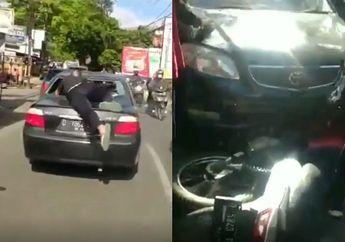 Bandung Geger, Pemotor Berhamburan Kejar Mobil Diduga Tabrak Lari