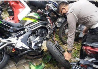 Motor Sampai Rusak Parah, Segini Kecepatan Moge Kawasaki ER-6N Saat Menabrak Honda BeAT di Bintaro