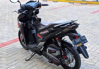 Modifikasi Honda Vario 150, Tampilan Sangar Dibalut Aksen Hitam Elegan