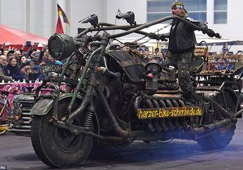 Begini Jadinya Kalau Mesin Tank Dicangkok ke Motor, Pantes Aja Pecahkan Rekor Dunia