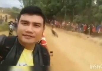 Tragis! Video Detik-detik Penonton Tertabrak Saat Selfie di Gelaran Balap Motocross