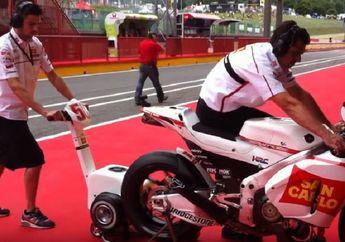 Bikin Melongo Semua Orang, Video Cara Hidupkan Mesin Motor MotoGP Tanpa Kick Starter dan Electrick Starter, Ternyata Bukan Didorong