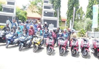 ARCI Sidoarjo Chapter Gelar Sunmori dan Rolling City Bareng  Dealer Yamaha SIP Waru