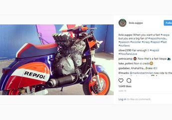Motor Vespa Postingan Mantan Bos Honda MotoGP Ini Sangar Abis!