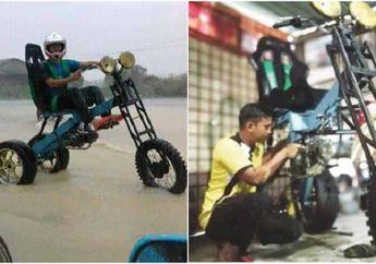 Mantab Jiwa! Motor Ala Biker Malaysia ini Dimodifikasi jadi Anti Badai Dan Banjir