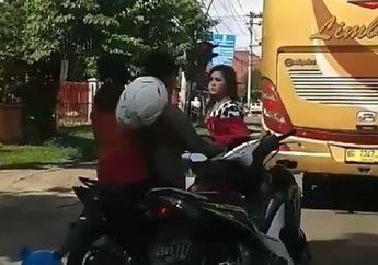 Ngerih! Ladies Biker Kalau Berantem di Jalan Raya Bikin Gemetar Dengkul yang Lihat, Simak Videonya