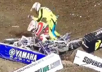 Mirip Petinju Kelas Dunia, Pembalap Motocross Ini Pukul Pembalap Lain Usai Kecelakaan Simak Videonya