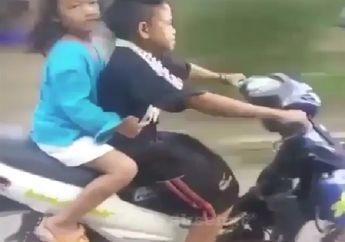 Video : Mau Kemana Tong? Belum Punya SIM Udah Bawa Motor Beginian