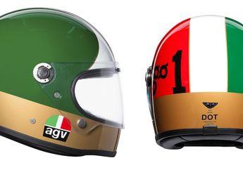 Helm Pembalap Legendaris Yang Lebih Hebat Dari Valentino Rossi Dirilis AGV