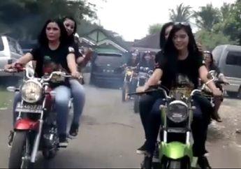 Mantap Jiwa! Aksi Cewek-cewek Cantik saat Konvoi Naik Yamaha RX King, Simak Videonya