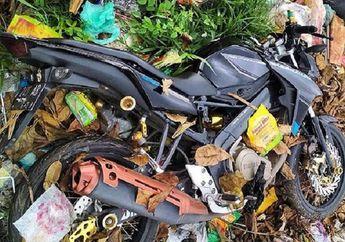 Horang Kaya Mah Bebas! Yamaha V-Ixion Enggak Dipakai Dibuang Ditempat Sampah