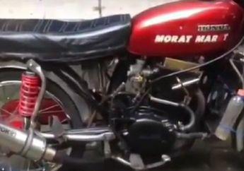 Bengis! Video Honda CB Dijejali Blok Mesin Xenia, Suaranya Sangar Abis