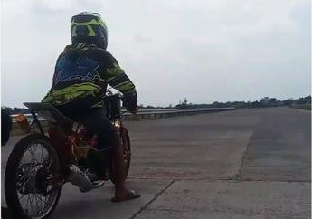 Terciduk Video Ritual Aneh Pembalap Drag Bike, Ada yang Tahu Maksudnya?